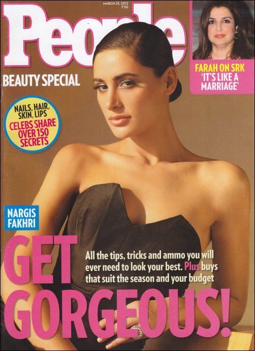 Nargis Fakhri on the cover of People Magazine - March 2012