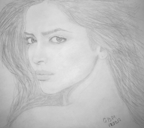 Deepika Padukone Sketches - Hand Drawn