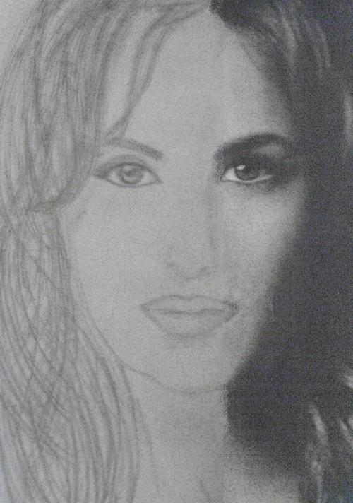 Katrina Kaif Sketches - Hand Drawn