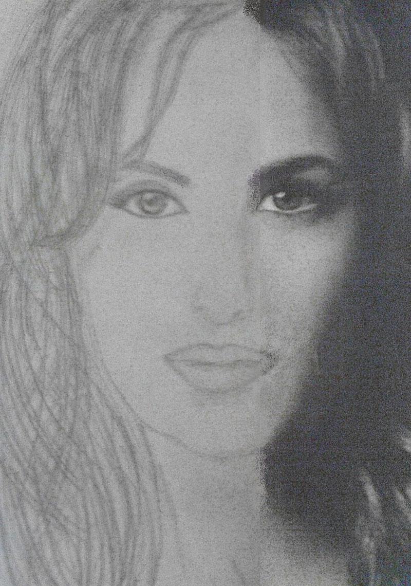 Katrina kaif sketches hand drawn