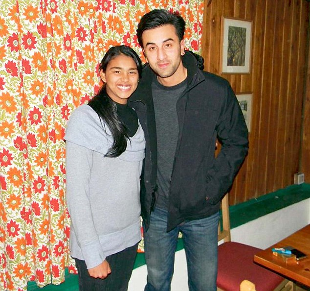 Ranbir Kapoor with fan on the sets of Yeh Jawani Hai Deewani
