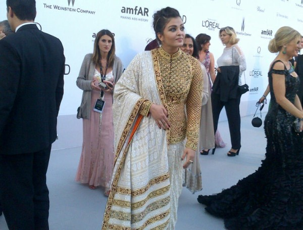 Aishwarya Rai's traditional look at the Cannes Film Festival 2012