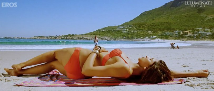 Deepika's Red Bikini in Cocktail