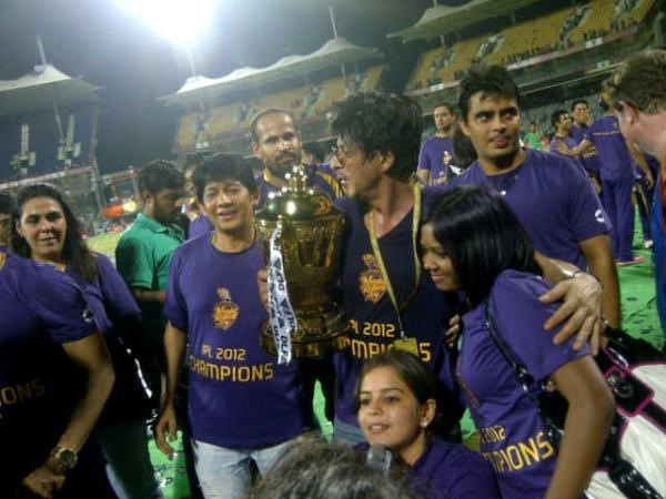 SRK with the IPL trophy