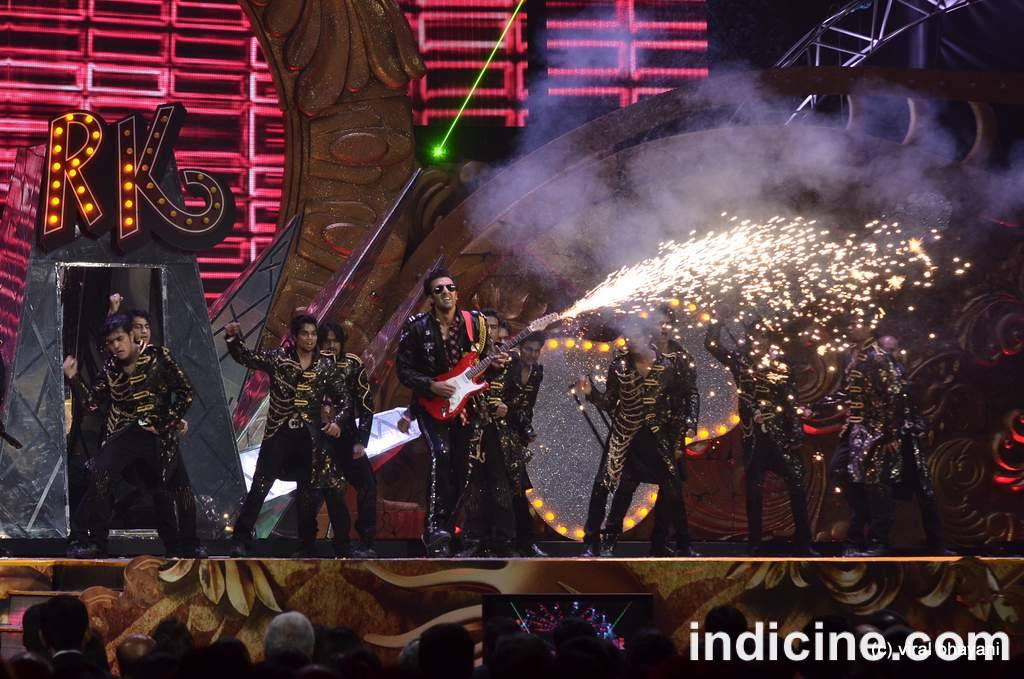 Ranbir Kapoor performs on stage at the IIFA