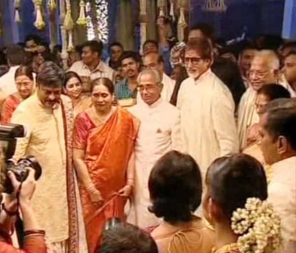 Amitabh Bachchan at Ram Charan, Upasana Kamineni Wedding