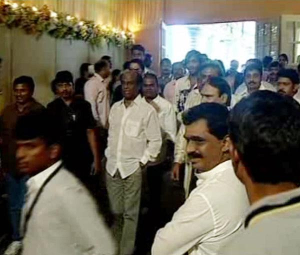 Rajinikanth at Ram Charan, Upasana Kamineni Wedding