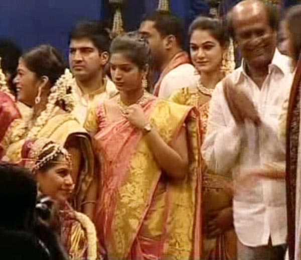 Rajinikanth at Ram Charan, Upasana Wedding
