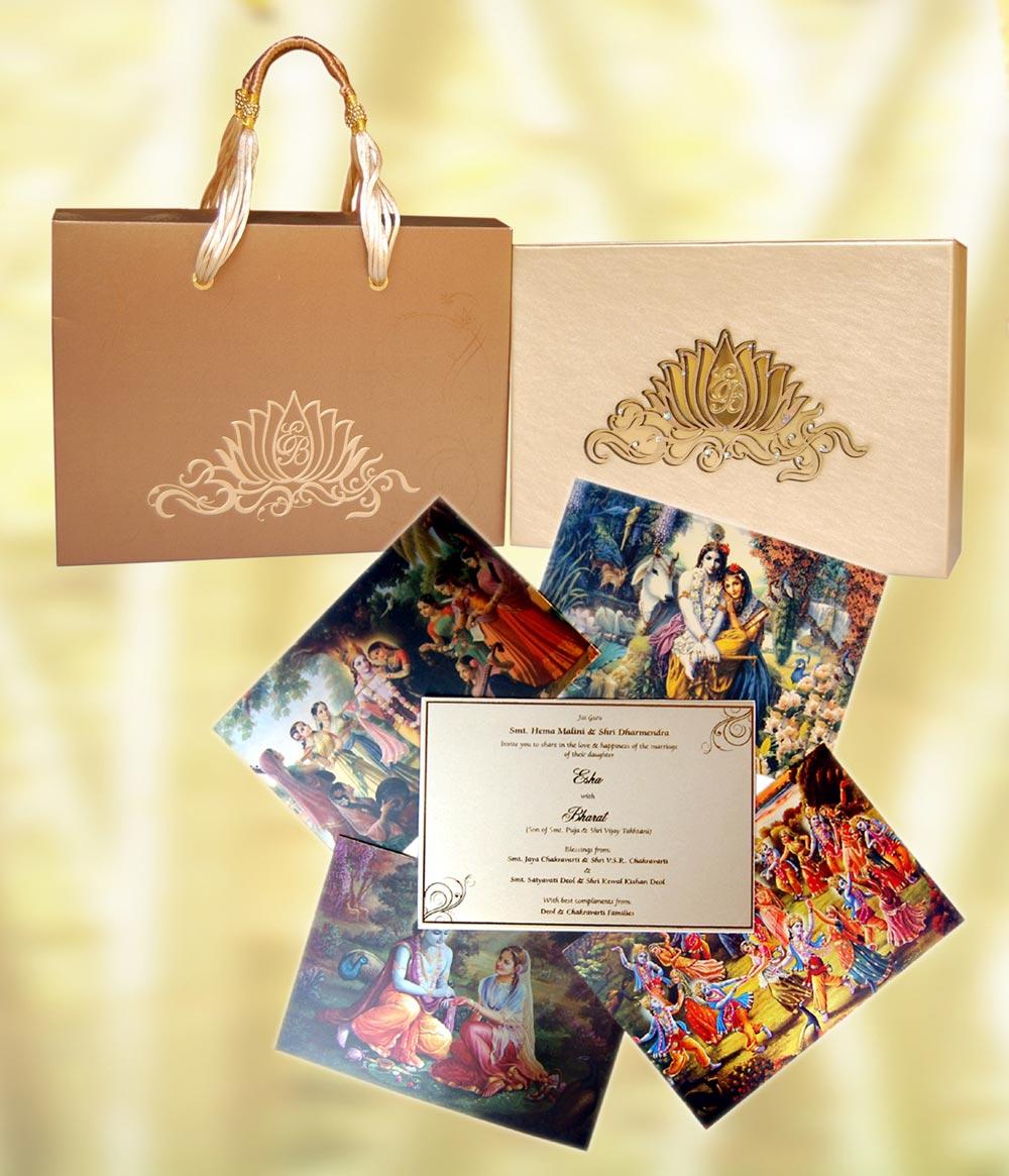 Esha and Bharat Wedding Card