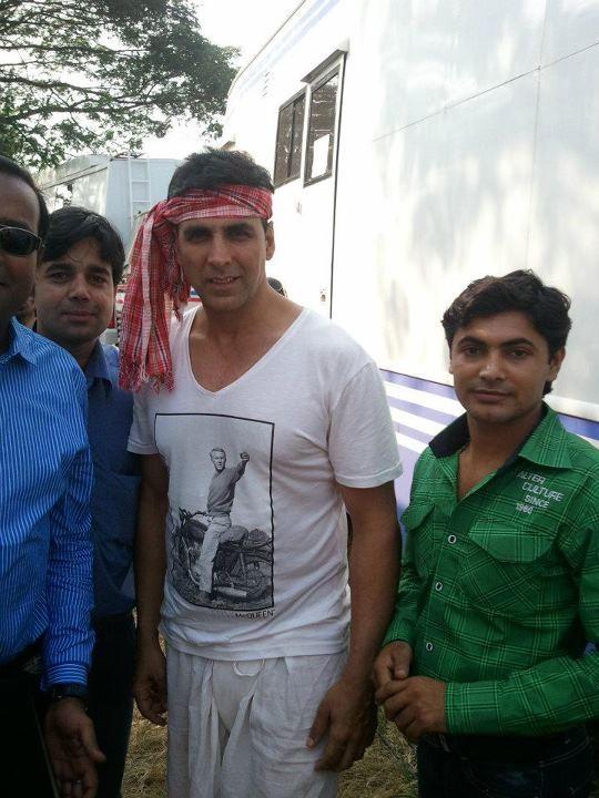 Akshay Kumar on the sets of Joker in Mumbai