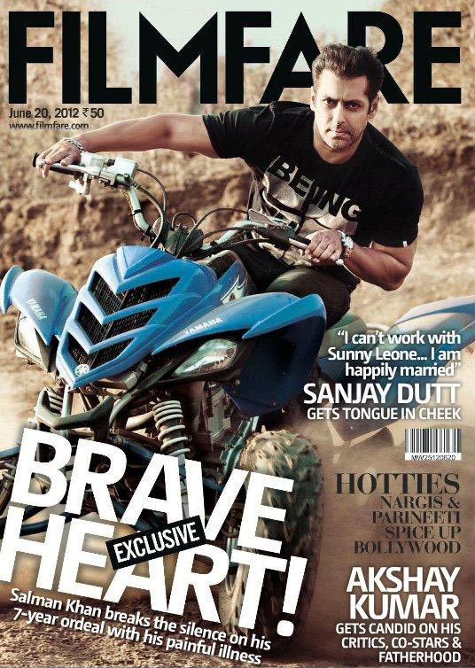 Salman Khan on the cover of Filmfare  June 2012 Issue