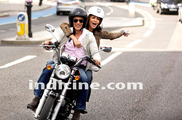 SRK Anushka on a bike