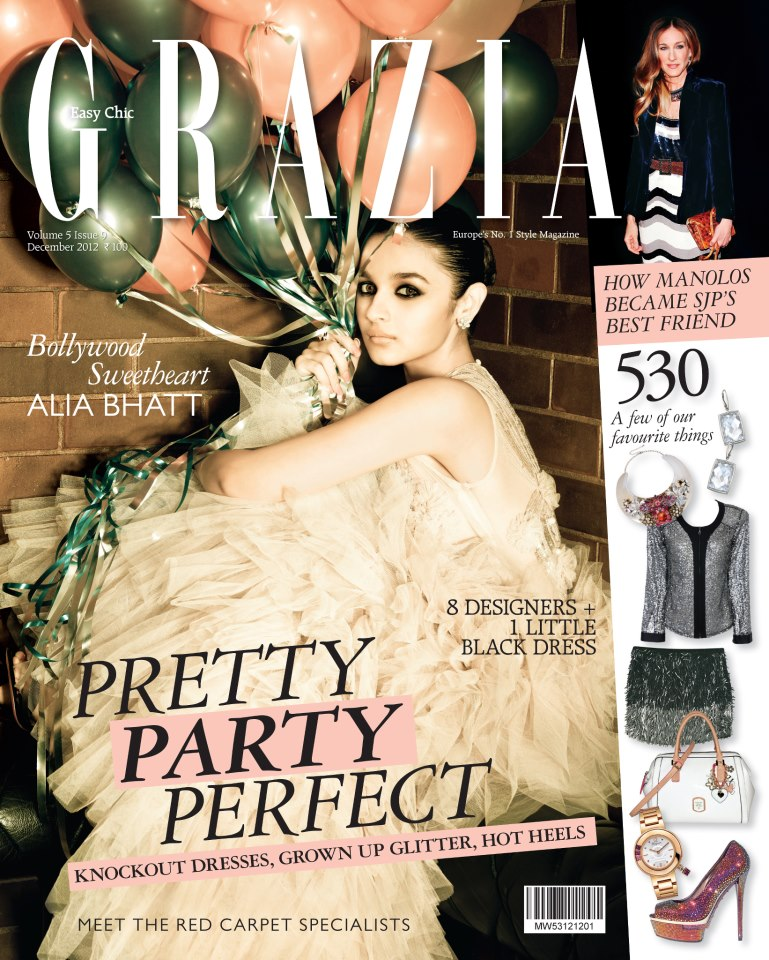 Alia Bhatt on the cover of Grazia - December 2012