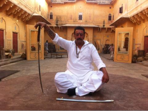 Sanjay Dutt in Sher shooting at Nahargarh, Jaipur