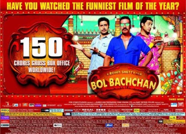 Bol Bachchan 150 crores