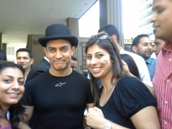 Aamir Khan with fans