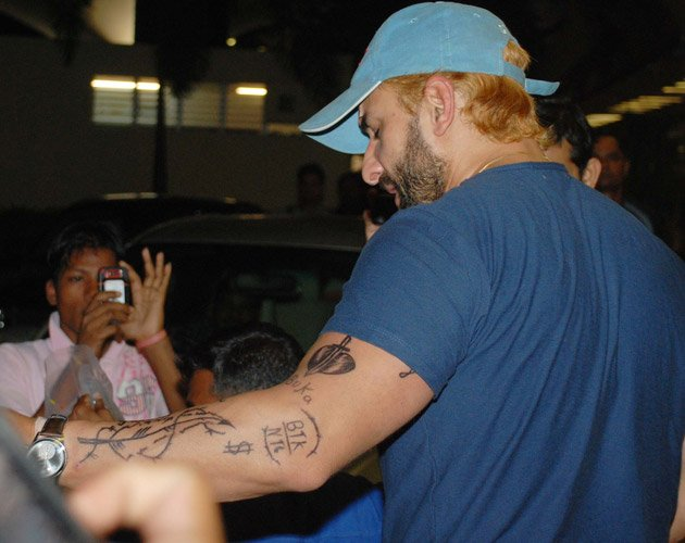 Saif Ali Khan Tattoo Kareena Saif Ali Khan Tattoo Hand