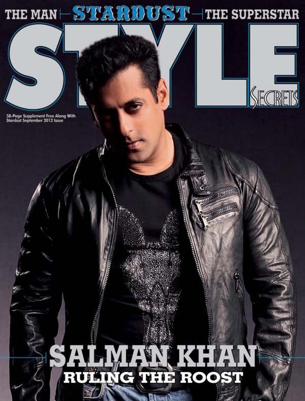 Salman Khan on the cover of Stardust Style Secret - September 2012