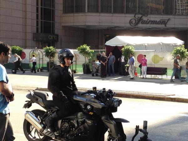 Aamir Khan on the sets of Dhoom 3 in Windy City of Chicago