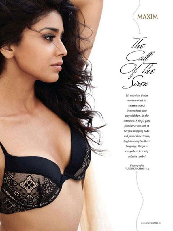 Shriya Saran picture from Maxim India