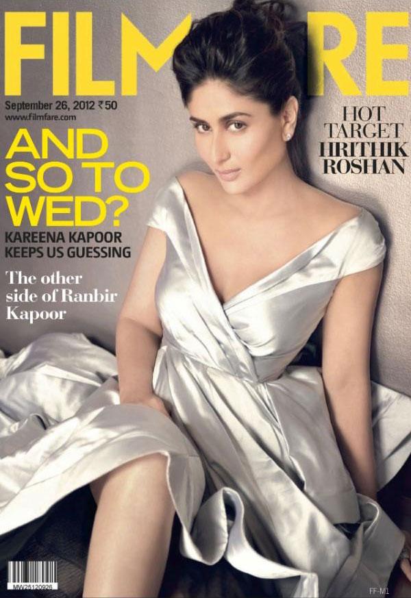 Kareena Kapoor on the cover of Filmfare - September 2012