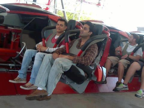 Aamir and Abhishek take off for a roller-coaster ride  Photos Aamir Khan In Dhoom 3 Sets