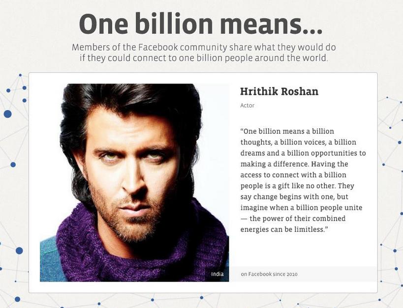 Hrithik Roshan on Facebook
