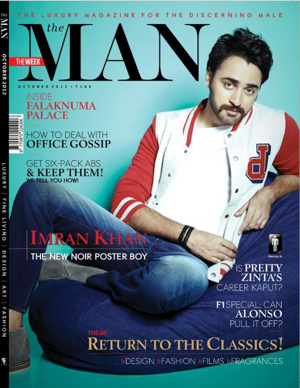Imran Khan on the cover of The Man - October 2012