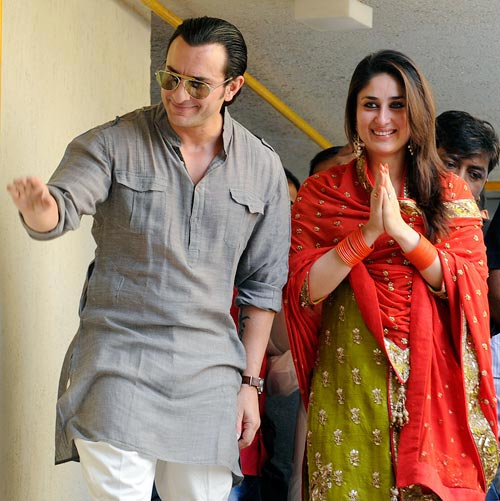 Saif Ali Khan, Kareena Kapoor Wedding Picture