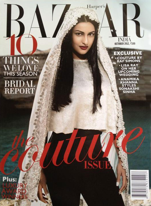 Sonakshi Sinha on the cover of Harper's Bazaar India October 2012