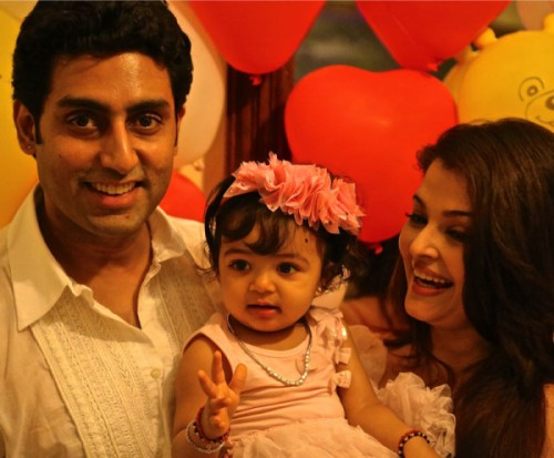 Abhishek, Aishwarya with their daughter Aaradhya