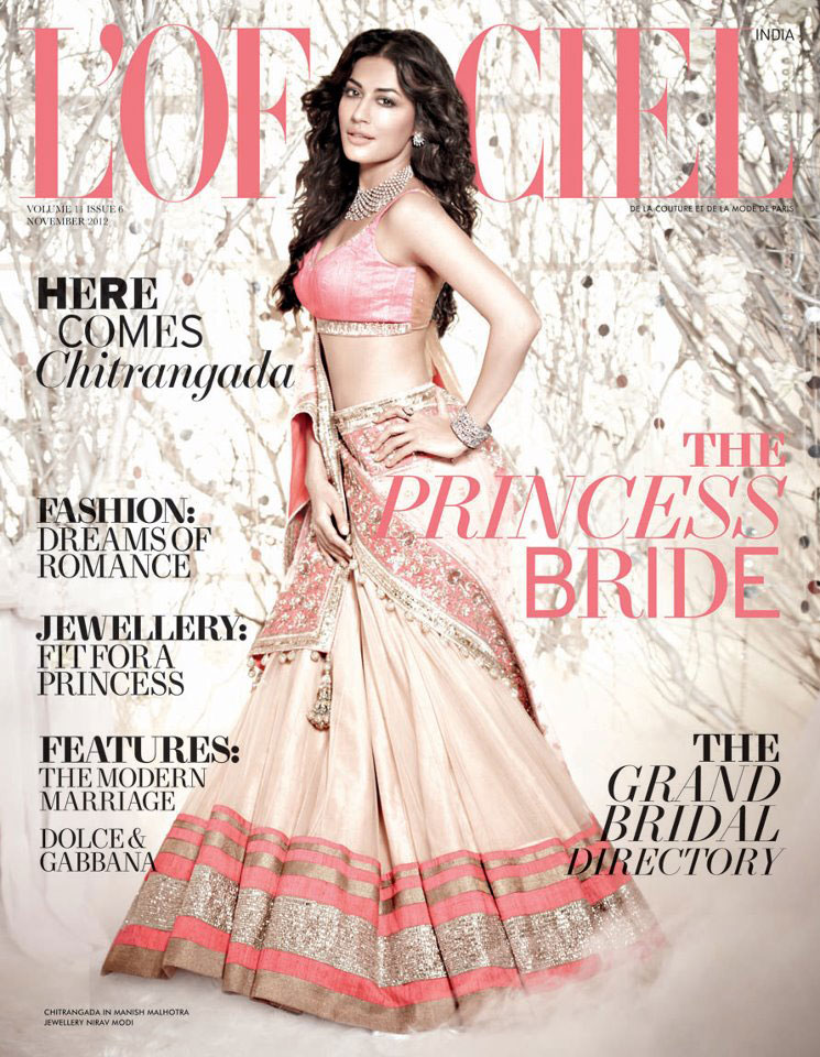 Chitrangada Singh on the cover of L'Officiel India - November 2012