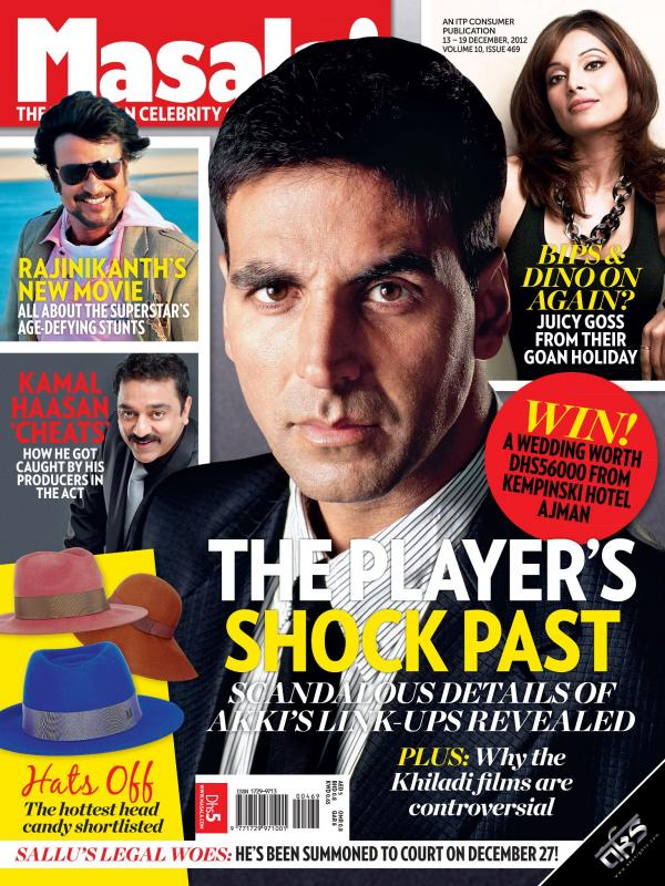 Akshay Kumar on the cover of Masala magazine