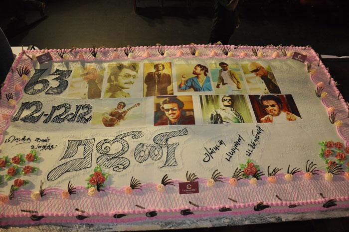 "A 63 kgs cake for Rajinikanth at ""Payapulla"" audio launch"