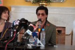 Shahrukh Khan talks to the media