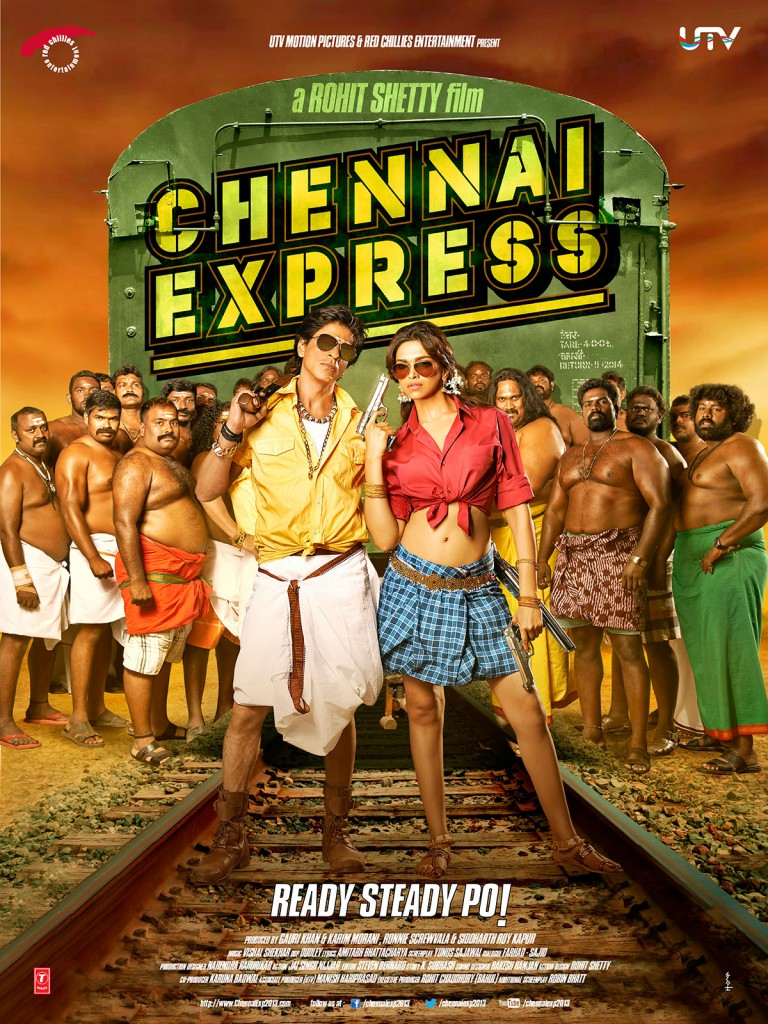 Chennai Express Poster - SRK Deepika