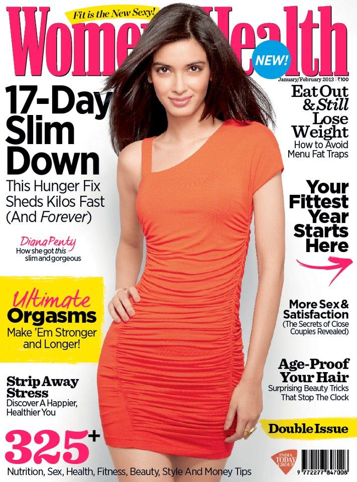 Diana Penty Magazine cover - Women's health India
