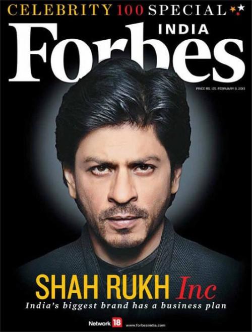 SRK Forbes Celebrity 100