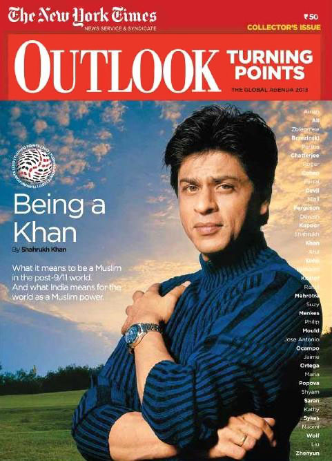 Shahrukh Khan on the cover of Outlook Turning Points magazine