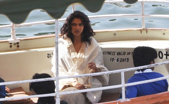 Deepika Padukone Ram Leela on location