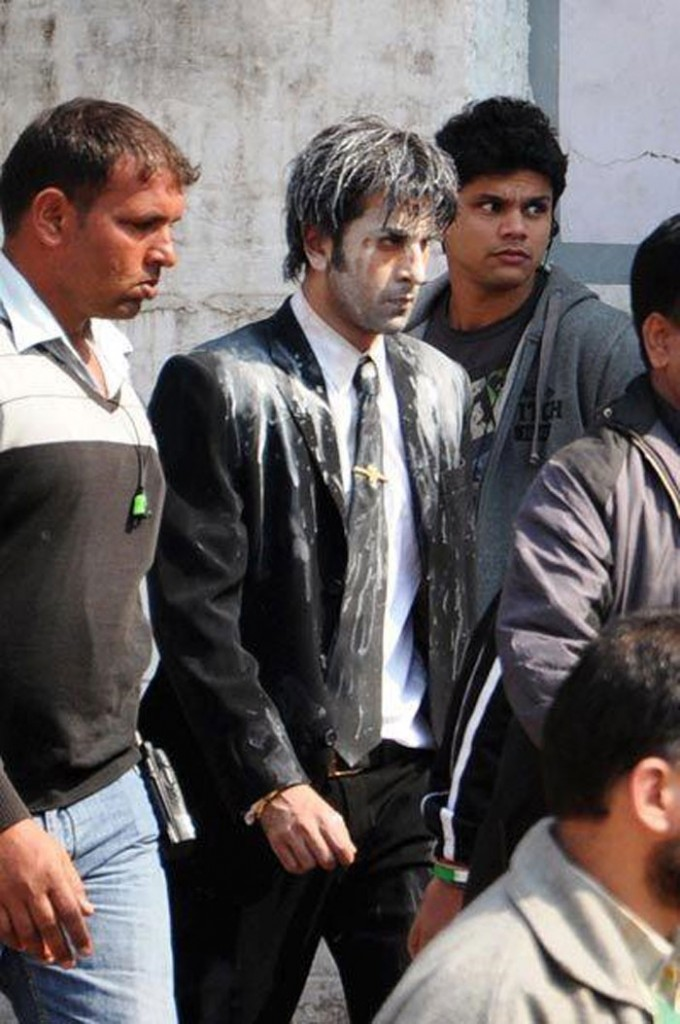 Ranbir Kapoor in white paint!