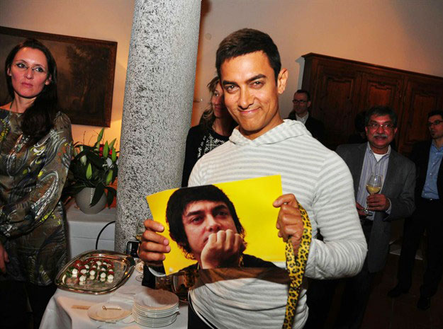 Aamir Khan at Swiss Party