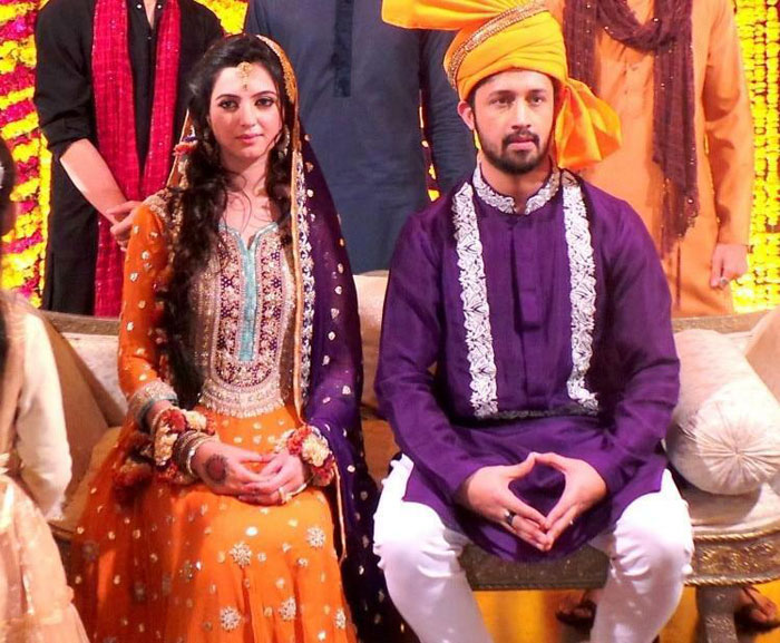 Atif Aslam and Sara Bharwana wedding ceremony