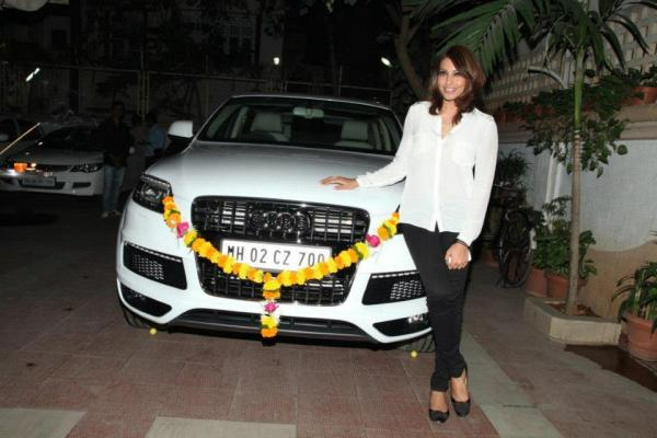 Bipasha Basu with her new Audi Q7