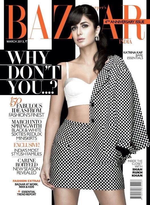 Harper's Bazaar Magazine Cover: Katrina Kaif