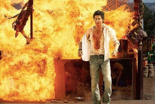 Chennai Express Action Still: Shahrukh Khan