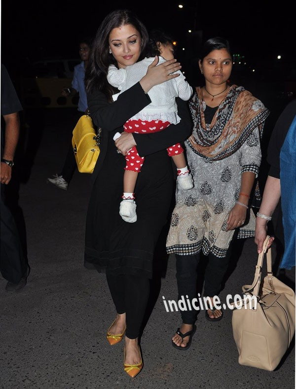 Aishwarya Rai with daughter Aaradhya leave for Cannes Fest