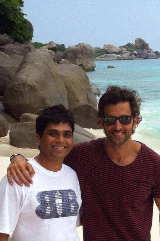 Hrithik Roshan on the sets of Bang Bang in Thailand