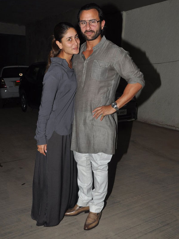 Kareena Kapoor with husband Saif Ali Khan
