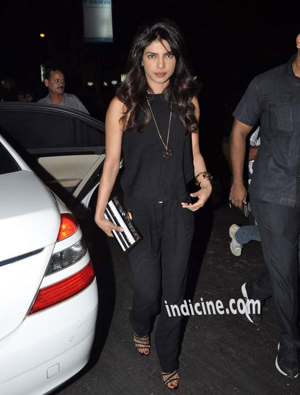 Priyanka Chopra Snapped at Aurus